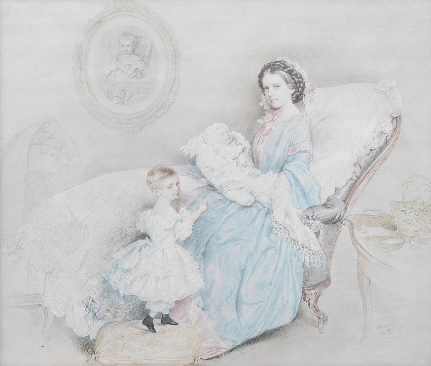 Kaiserin-Elisabeth-mit-dem-neugeborenen-Kronprinzen-Rudolf-und-der-jungen-Erzherzogin-Gisela.jpg