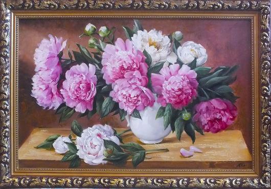 f703902f3e5959e7a11d8c1801 kartiny panno piony v beloj vaze