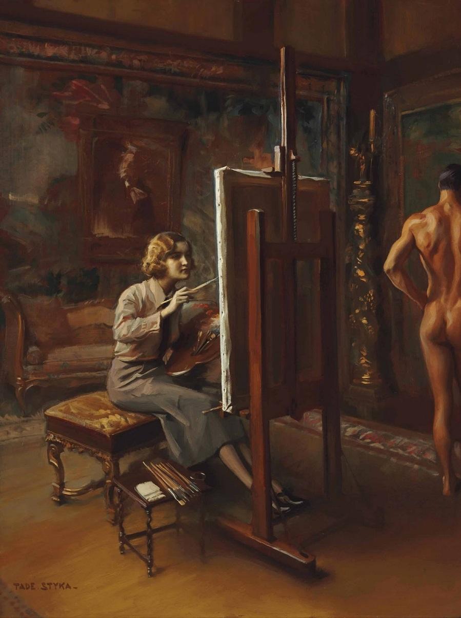 PORTRET-GYGETTY-KLARK-ZA-MOLBERTOM-Portrait-of-Huguette-Clark-Full-length-at-her-easel_101.6-x-76.2_K.M._CASTNOE-SOBRANIE.jpg